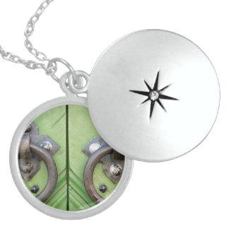 Old door sterling silver necklace