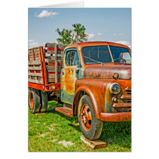 Old Dually - Truck - Rusty - Vintage Card
