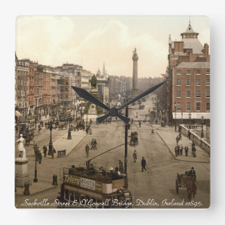 Old Dublin Ireland wall clock, Sackville Street Square Wall Clock