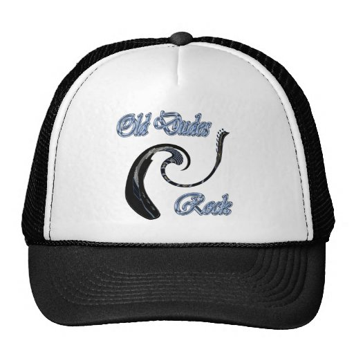 Old Dudes Rock Electric Guitar Trucker Hat