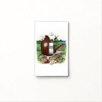 Old Dutch Capuchine Pigeon Light Switch Cover