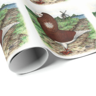 Old Dutch Capuchine Pigeon Wrapping Paper