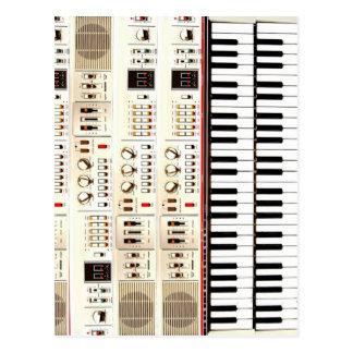 Old Electric Keyboard Postcard