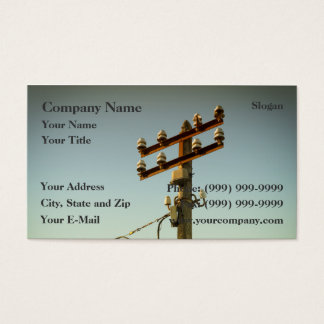 Old Electricity Business Card