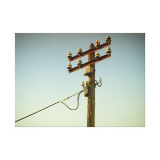 Old Electricity Canvas Print