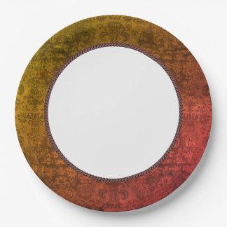 OLD-Elegance-Damask-EVERYDAY-CELEBRATE Paper Plate