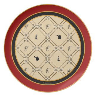 Old English Bits and Pieces Equestrian Plate