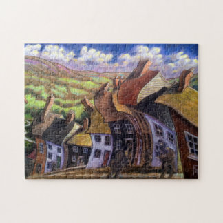 """Old English Country Village"" 11x14 Picture Puzzle"