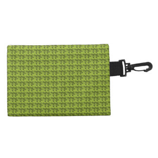 Old-English-Double-Rose-Green-Clip-On-Acessory Accessory Bag