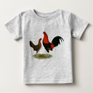 Old English Game Bantams:  BB Red Pair Baby T-Shirt