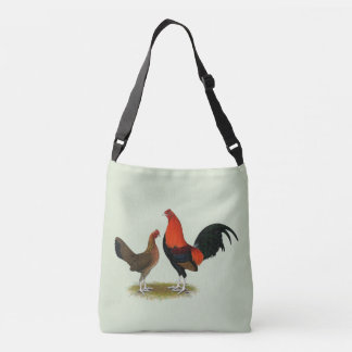 Old English Game Bantams:  BB Red Pair Crossbody Bag