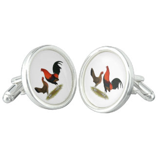 Old English Game Bantams:  BB Red Pair Cufflinks