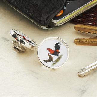 Old English Game Bantams:  BB Red Pair Lapel Pin