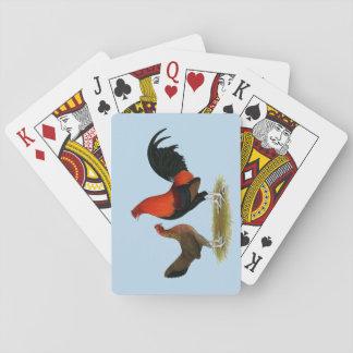 Old English Game Bantams:  BB Red Pair Playing Cards