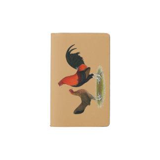 Old English Game Bantams:  BB Red Pair Pocket Moleskine Notebook