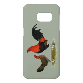 Old English Game Bantams:  BB Red Pair Samsung Galaxy S7 Case