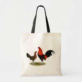 Old English Game Bantams:  BB Red Pair Tote Bag