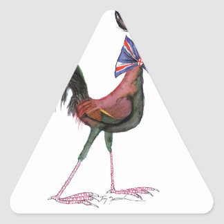 OLD ENGLISH GAME HEN, tony fernandes Triangle Sticker