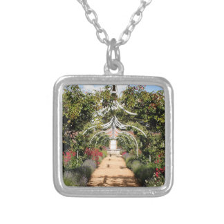 Old English garden Silver Plated Necklace