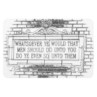 Old English Golden Rule Refrigerator Magnet