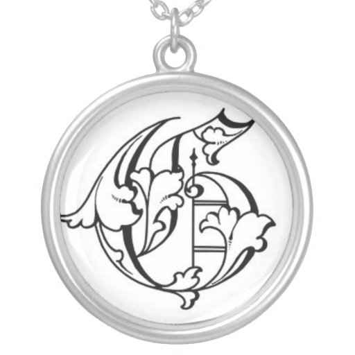 Old English Initial G Necklace