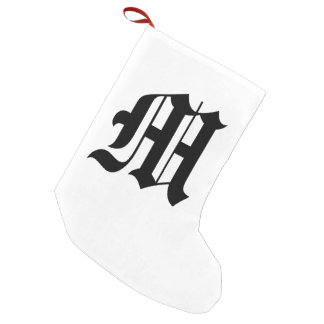 Old English Letter - M Christmas Stocking