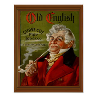 Old English Pipe Tobacco Vintage Ad Poster