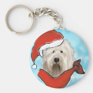Old English Sheep Dog Keychain