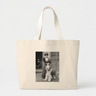Old English Sheepdog, 1915 Jumbo Tote Bag