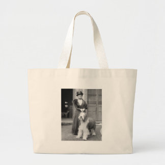 Old English Sheepdog, 1915 Large Tote Bag