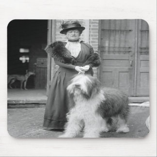 Old English Sheepdog, 1915 Mouse Pads