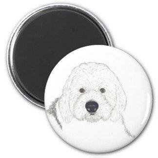 Old English Sheepdog 2 Inch Round Magnet