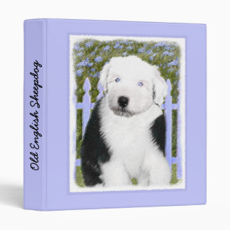 Old English Sheepdog 3 Ring Binder