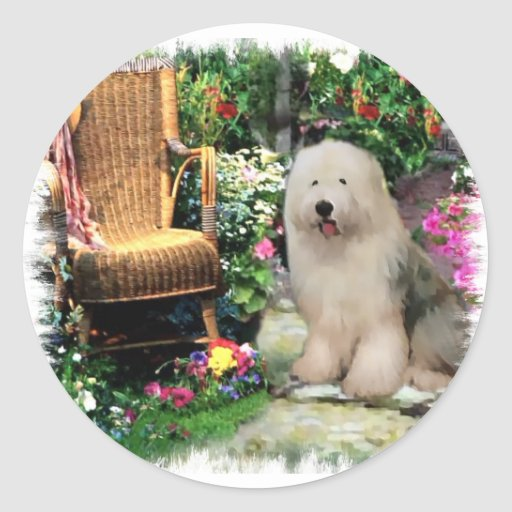 Old English Sheepdog Art Gifts Stickers