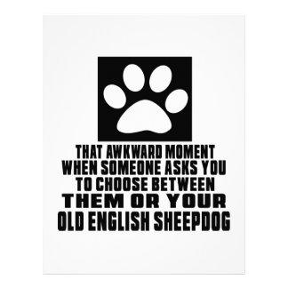 OLD ENGLISH SHEEPDOG  AWKWARD DESIGNS LETTERHEAD TEMPLATE