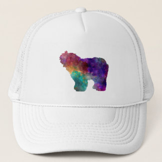 Old English Sheepdog Bobtail in watercolor Trucker Hat