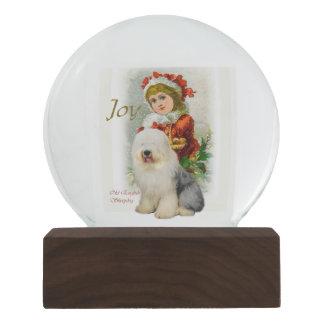 Old English Sheepdog Christmas Snow Globe
