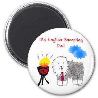 Old English Sheepdog Dad Magnet