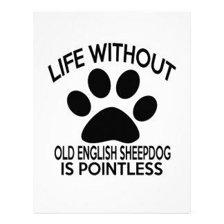 OLD ENGLISH SHEEPDOG DESIGNS PERSONALIZED LETTERHEAD