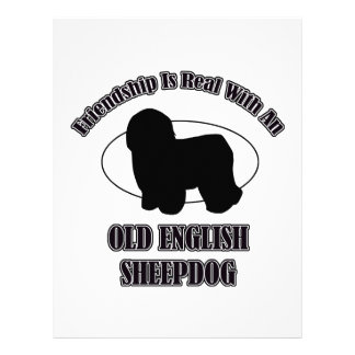 OLD ENGLISH SHEEPDOG DOG DESIGNS PERSONALIZED LETTERHEAD
