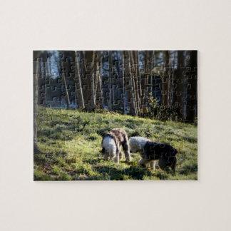Old English Sheepdog Fairytale Forest Jigsaw Puzzle