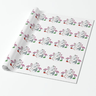 Old English Sheepdog gift wrapping paper