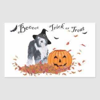 Old English Sheepdog Halloween Sticker