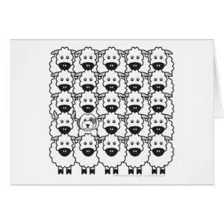 Old English Sheepdog in the Sheep Card