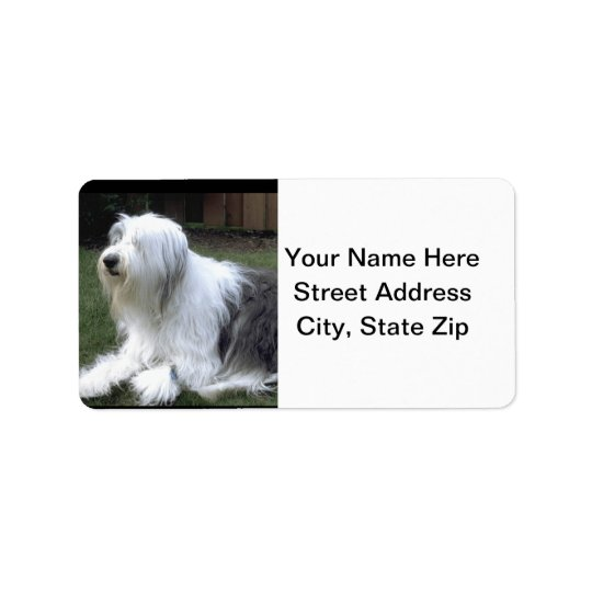 Old English Sheepdog Label