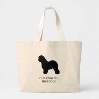 Old English Sheepdog Large Tote Bag