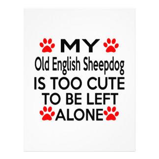 Old English Sheepdog Personalized Letterhead