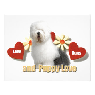 Old English Sheepdog Love,Hugs,Puppy Love gifts Personalized Letterhead