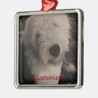 Old English Sheepdog Metal Ornament
