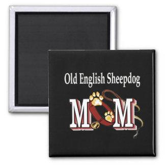 old english SHEEPDOG mom Magnet